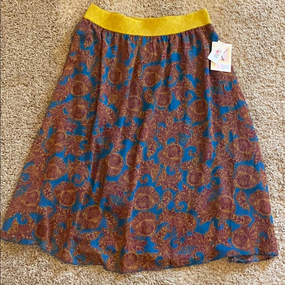 LulaRoe Lola Purple and Gold Skirt